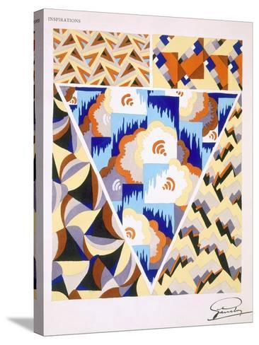Interior Design Pattern, Plate 2 from 'Inspirations', Published Paris, 1930S (Colour Litho)- Gandy-Stretched Canvas Print