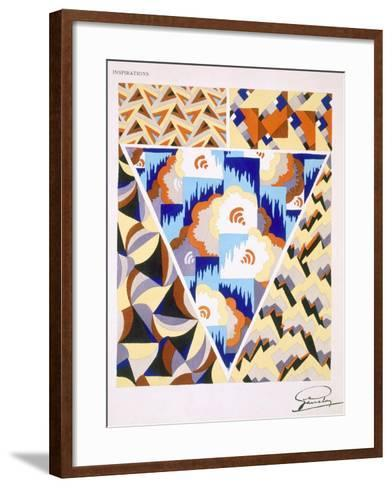 Interior Design Pattern, Plate 2 from 'Inspirations', Published Paris, 1930S (Colour Litho)- Gandy-Framed Art Print