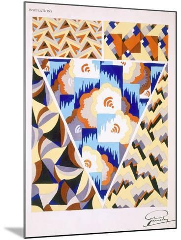 Interior Design Pattern, Plate 2 from 'Inspirations', Published Paris, 1930S (Colour Litho)- Gandy-Mounted Giclee Print