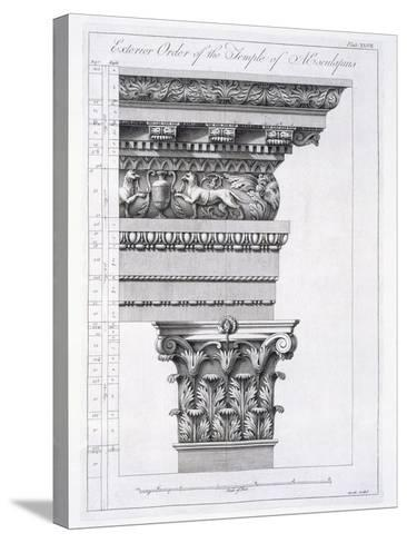 Exterior Order of the Temple of Aesculapius, Plate XLVII-Robert Adam-Stretched Canvas Print