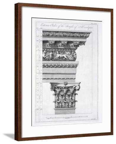 Exterior Order of the Temple of Aesculapius, Plate XLVII-Robert Adam-Framed Art Print