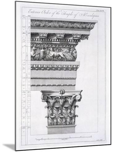 Exterior Order of the Temple of Aesculapius, Plate XLVII-Robert Adam-Mounted Giclee Print