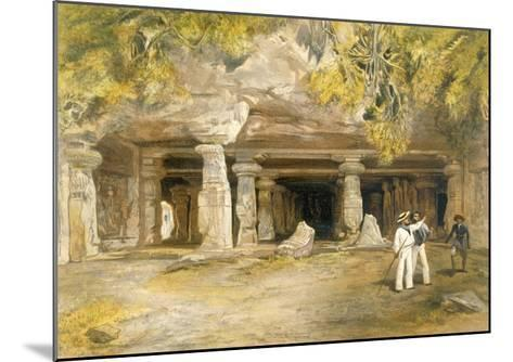 The Cave of Elephanta, from 'India Ancient and Modern', 1867 (Colour Litho)-William 'Crimea' Simpson-Mounted Giclee Print