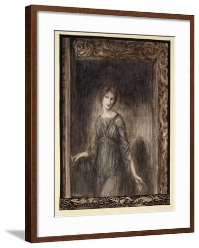 The Door of Fionn's Chamber Opened Gently and a Young Woman Came into the Room-Arthur Rackham-Framed Art Print