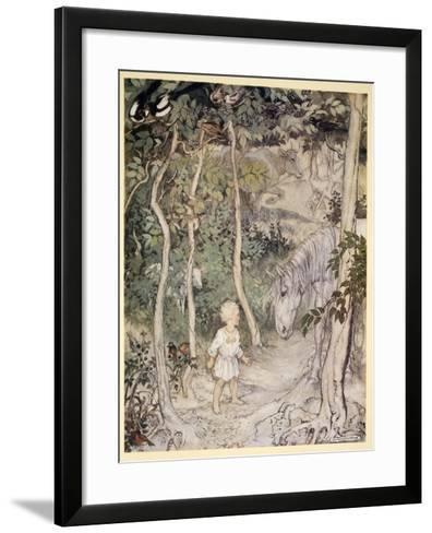 He Might Think, as a Stared on a Staring Horse, 'A Boy Cannot Wag His Tail to Keep the Flies Off'-Arthur Rackham-Framed Art Print
