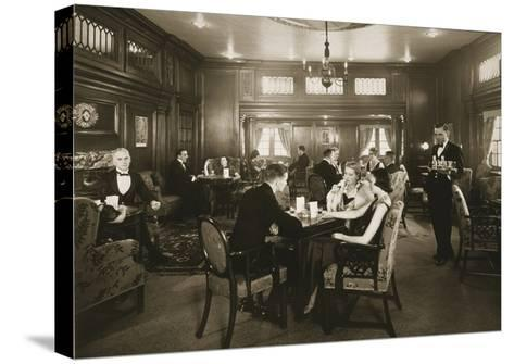 First Class Lounge, Scythia, 20th Century (Photo)--Stretched Canvas Print