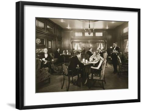 First Class Lounge, Scythia, 20th Century (Photo)--Framed Art Print