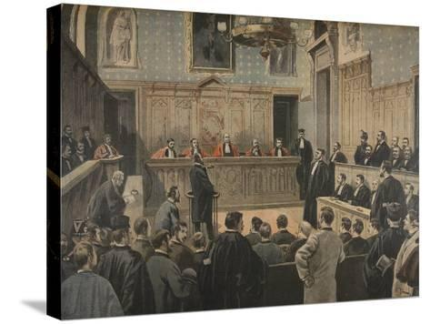 The Panama Trial, Illustration from 'Le Petit Journal: Supplement Illustre', 2nd January 1898-Fortuné Louis Méaulle-Stretched Canvas Print