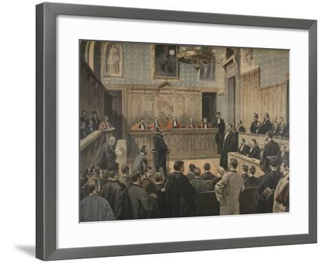 The Panama Trial, Illustration from 'Le Petit Journal: Supplement Illustre', 2nd January 1898-Fortuné Louis Méaulle-Framed Art Print