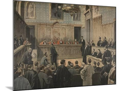 The Panama Trial, Illustration from 'Le Petit Journal: Supplement Illustre', 2nd January 1898-Fortuné Louis Méaulle-Mounted Giclee Print