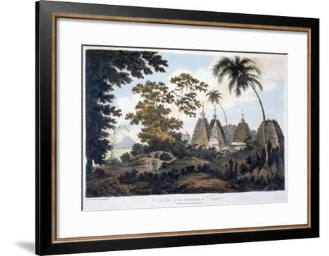 Pagodas at Deogur, 1787 (Aquatint)-William Hodges-Framed Art Print