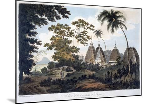 Pagodas at Deogur, 1787 (Aquatint)-William Hodges-Mounted Giclee Print