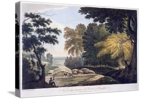 Hill Village in the District of Bauhelepoor, 1787 (Aquatint)-William Hodges-Stretched Canvas Print