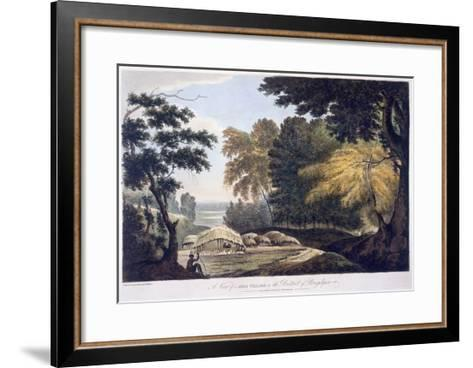 Hill Village in the District of Bauhelepoor, 1787 (Aquatint)-William Hodges-Framed Art Print