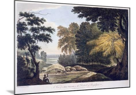 Hill Village in the District of Bauhelepoor, 1787 (Aquatint)-William Hodges-Mounted Giclee Print
