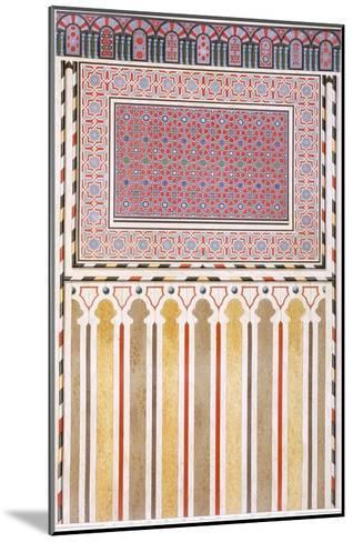Cairo: Decoration of the El Bordeyny Mosque: Geometric Patterns of the Mosaic of the Mihrab-Emile Prisse d'Avennes-Mounted Giclee Print