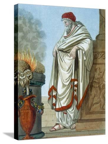 Pontifex Maximus, Illustration from 'L'Antique Rome', Engraved by Labrousse, Published 1796-Jacques Grasset de Saint-Sauveur-Stretched Canvas Print