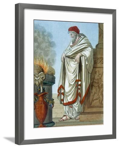 Pontifex Maximus, Illustration from 'L'Antique Rome', Engraved by Labrousse, Published 1796-Jacques Grasset de Saint-Sauveur-Framed Art Print