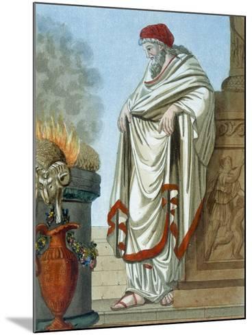 Pontifex Maximus, Illustration from 'L'Antique Rome', Engraved by Labrousse, Published 1796-Jacques Grasset de Saint-Sauveur-Mounted Giclee Print