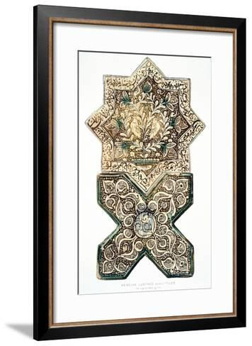 Pl 28 Persian Lustred Wall-Tiles, 19th Century (Colour Litho)-Henry Wallis-Framed Art Print