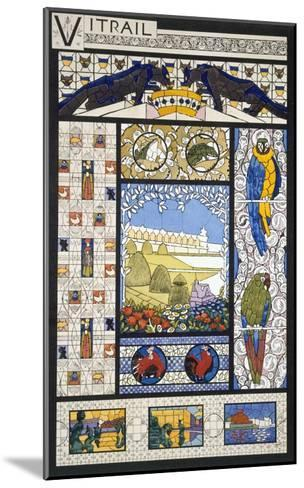 Stained Glass Window Designs, from 'Decorative Sketches', C.1895 (Colour Litho)-Rene Binet-Mounted Giclee Print