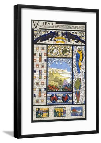 Stained Glass Window Designs, from 'Decorative Sketches', C.1895 (Colour Litho)-Rene Binet-Framed Art Print