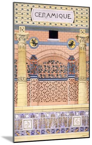 Ceramics: Designs for Tiled Wall Schemes, from 'Decorative Sketches', C.1895 (Colour Litho)-Rene Binet-Mounted Giclee Print