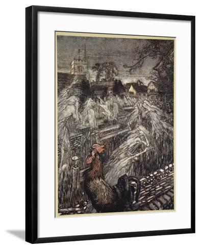 ..Ghosts, Wandering Here and There, Troop Home to Churchyards-Arthur Rackham-Framed Art Print