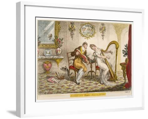 Harmony before Matrimony', Published 1805 (Coloured Engraving)-James Gillray-Framed Art Print