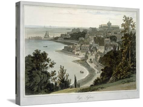 Rye, East Sussex, from 'A Voyage around Great Britain Undertaken Between the Years 1814 and 1825'-William Daniell-Stretched Canvas Print