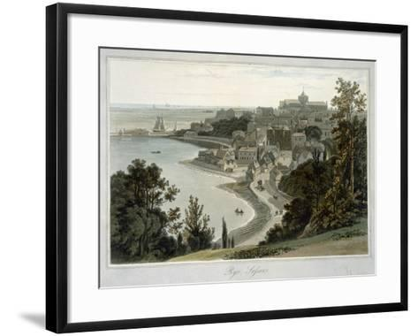 Rye, East Sussex, from 'A Voyage around Great Britain Undertaken Between the Years 1814 and 1825'-William Daniell-Framed Art Print