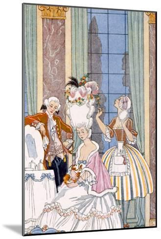 France in the 18th Century, from 'The Art of Perfume', Pub. 1912 (Pochoir Print)-Georges Barbier-Mounted Giclee Print
