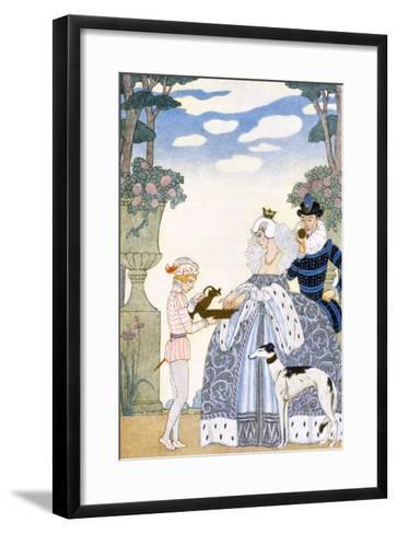 Elizabethan England, from 'The Art of Perfume', Pub. 1912 (Pochoir Print)-Georges Barbier-Framed Art Print