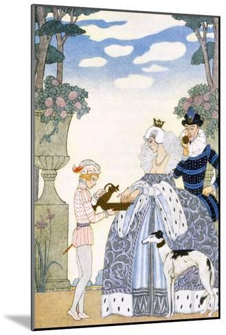 Elizabethan England, from 'The Art of Perfume', Pub. 1912 (Pochoir Print)-Georges Barbier-Mounted Giclee Print