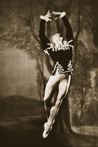 Andre Eglevsky in Swan Lake, from 'Grand Ballet De Monte-Carlo', 1949 (Photogravure)-French Photographer-Stretched Canvas Print