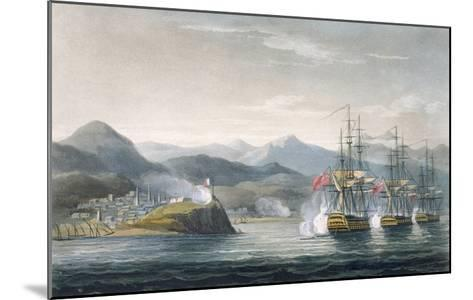 The Squadron under the Command of Sir J. Brisbane Attacking Fort Maurigio, on 12th April, 1814-Thomas Whitcombe-Mounted Giclee Print