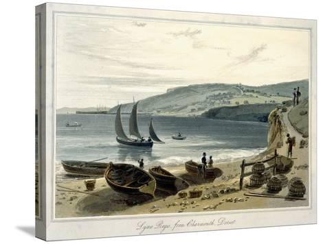 Lyme Regis, from Charmouth, Dorset-William Daniell-Stretched Canvas Print