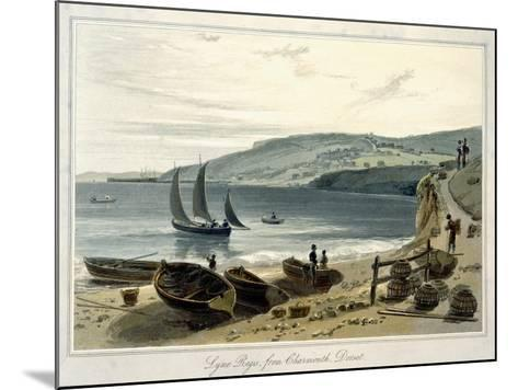 Lyme Regis, from Charmouth, Dorset-William Daniell-Mounted Giclee Print