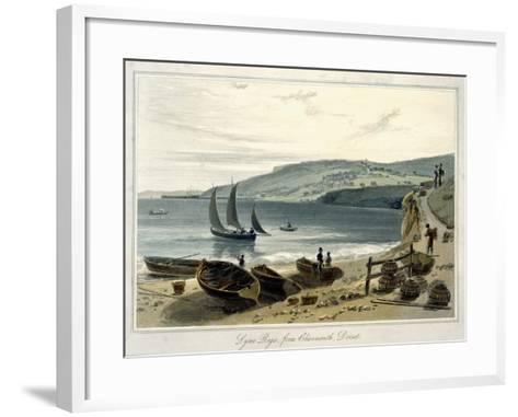 Lyme Regis, from Charmouth, Dorset-William Daniell-Framed Art Print