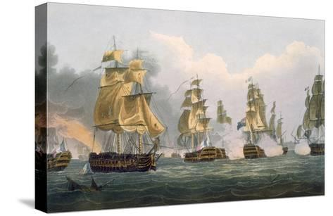 Lord Bridport's Action Off Port L'Orient, June 23rd 1795-Thomas Whitcombe-Stretched Canvas Print
