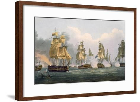 Lord Bridport's Action Off Port L'Orient, June 23rd 1795-Thomas Whitcombe-Framed Art Print