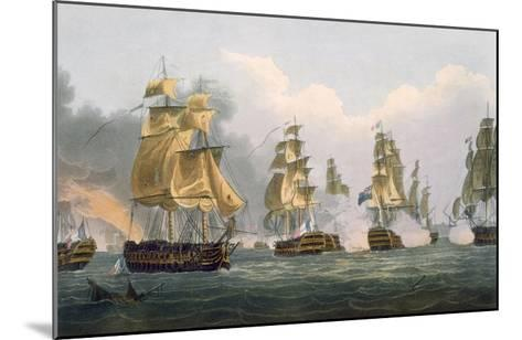 Lord Bridport's Action Off Port L'Orient, June 23rd 1795-Thomas Whitcombe-Mounted Giclee Print