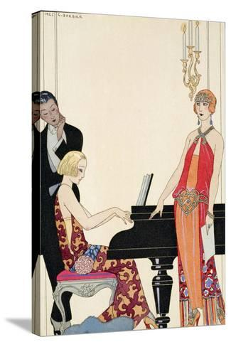 Incantation, Illustration for 'Gazette Du Bon Ton', 1922 (Pochoir Print)-Georges Barbier-Stretched Canvas Print