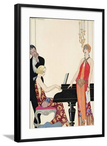 Incantation, Illustration for 'Gazette Du Bon Ton', 1922 (Pochoir Print)-Georges Barbier-Framed Art Print