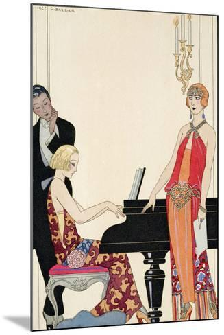 Incantation, Illustration for 'Gazette Du Bon Ton', 1922 (Pochoir Print)-Georges Barbier-Mounted Giclee Print