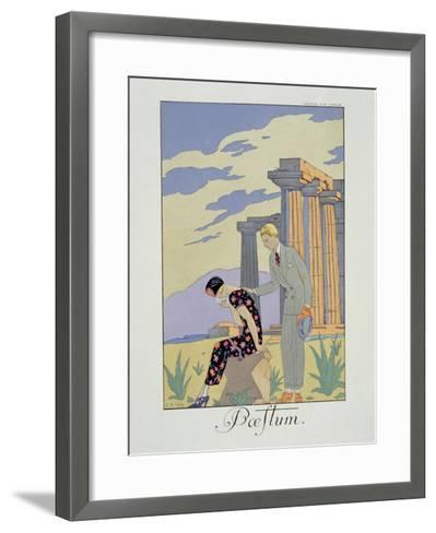 Paestum, 1924 (Pochoir Print)-Georges Barbier-Framed Art Print
