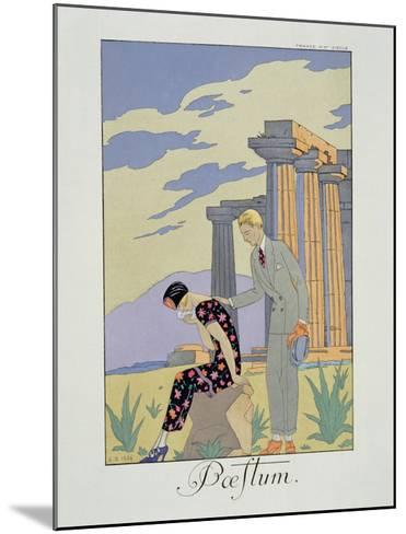 Paestum, 1924 (Pochoir Print)-Georges Barbier-Mounted Giclee Print