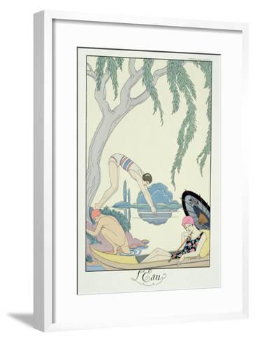 Water, 1925 (Pochoir Print)-Georges Barbier-Framed Art Print