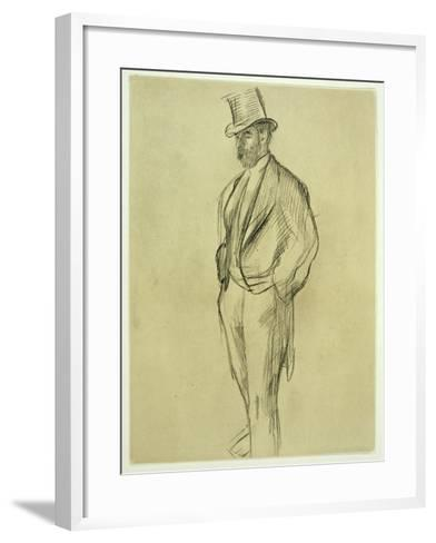 Portrait of Ludovic Halevy (1834-1908), from 'La Famille Cardinal' by Ludovic Halevy, C.1880S-Edgar Degas-Framed Art Print