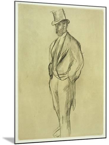 Portrait of Ludovic Halevy (1834-1908), from 'La Famille Cardinal' by Ludovic Halevy, C.1880S-Edgar Degas-Mounted Giclee Print